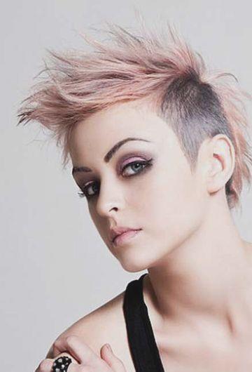 发式发型图片-欧美美女微信头像